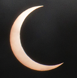 Eclipse as seen in Los Angeles, CA