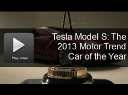Video of Motor Trend's announcement of the Tesla Model S as 2013 Car of the Year