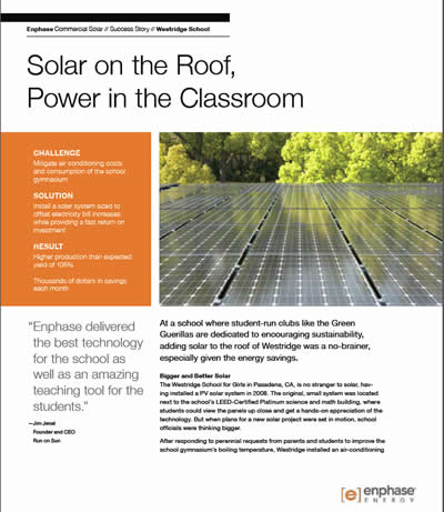 Solar on the Roof, Power in the Classroom article