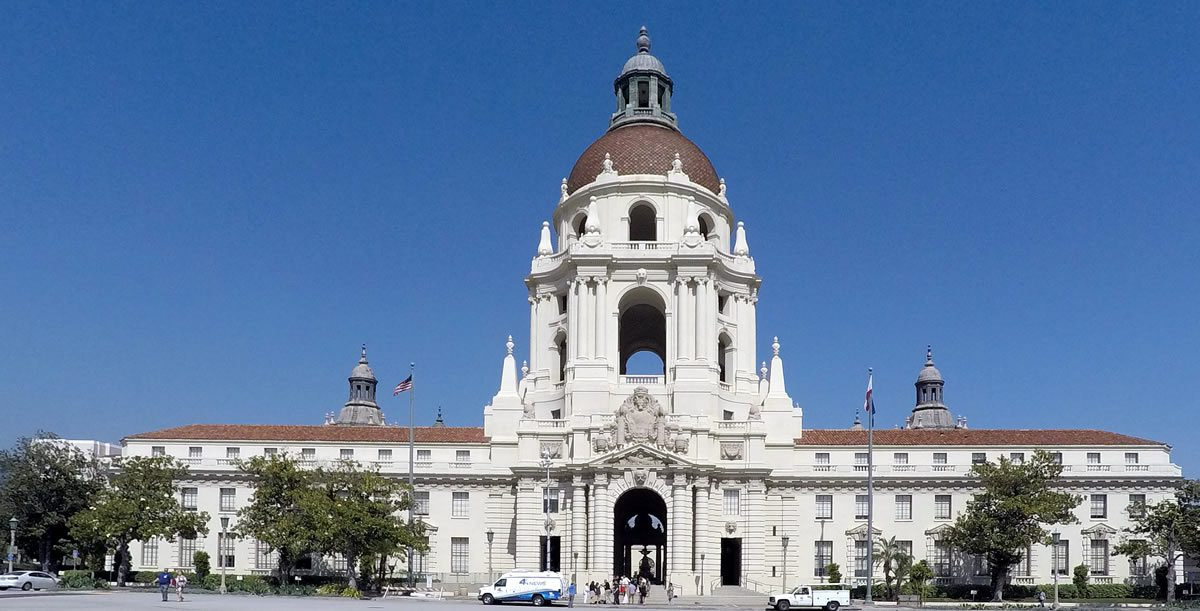 Pasadena City Hall - home for Run on Sun and Pasadena Solar