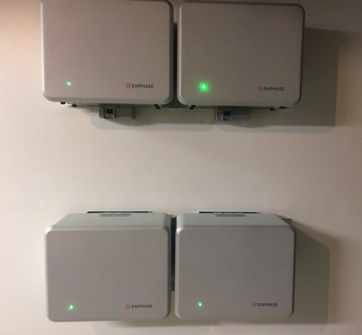 Four Enphase Energy AC batteries installed