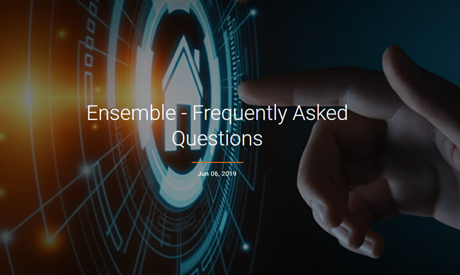 Ensemble FAQ page