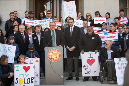 Capitol steps launch for SB-288 - the Solar Bill of Rights