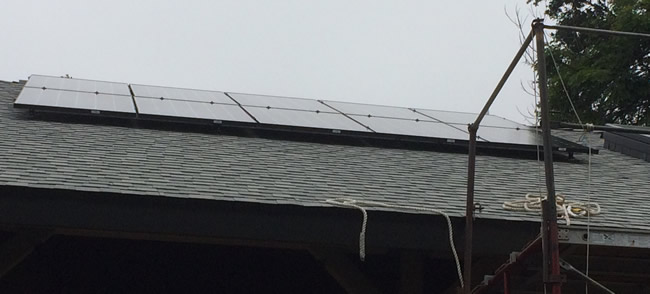 Solar installed on a new home