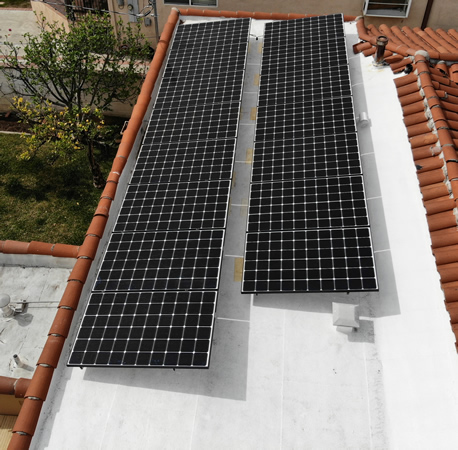Completed residential solar installation