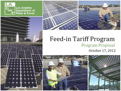 LADWP FiT program proposal
