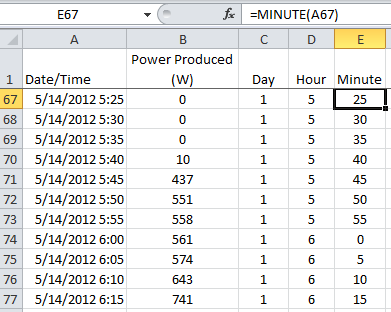 adding hour and minute columns