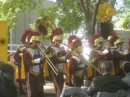 The USC band sets the pace
