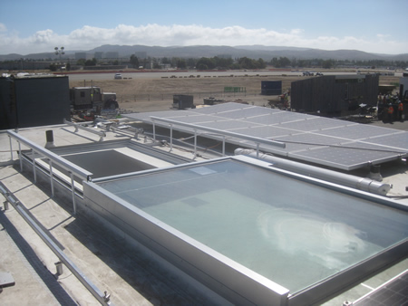 Roof view from fluxHome at Solar Decathlon site