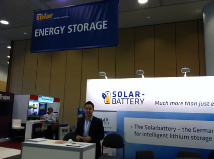 Solar Battery booth at IS