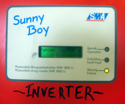 Inverter displaying eeprom_d fault