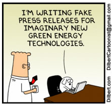Dogbert create faux press releases